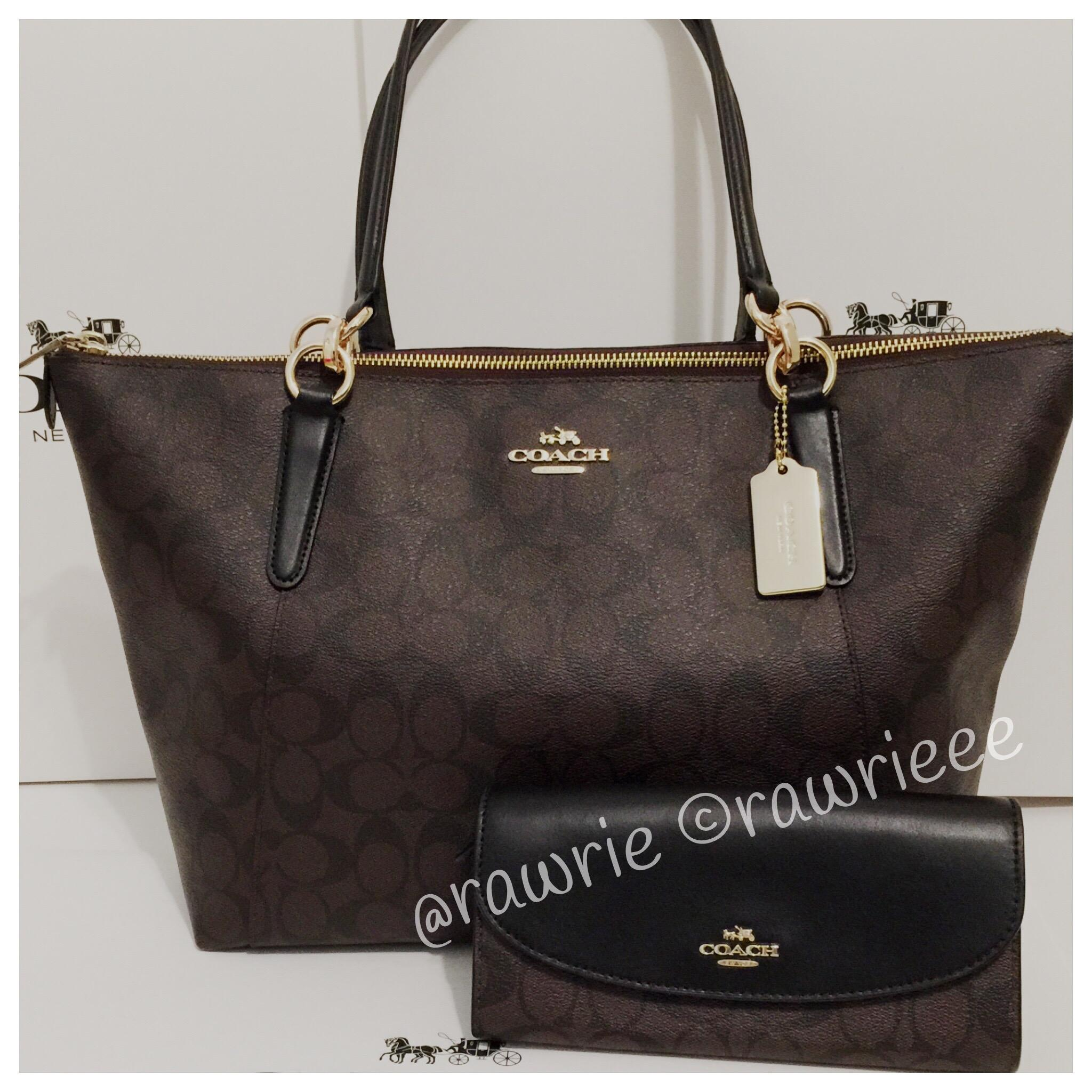 Promo Code For Coach Black Brown Handbag 1fc55 987e2 Small Margot Carryall In Signature Canvas F34608 New Zealand Monogram Gift Set Matching Tote Eb367 Fefc4