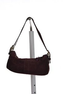 Coach Womens Solid Cowhide Leather Handbags Baguette