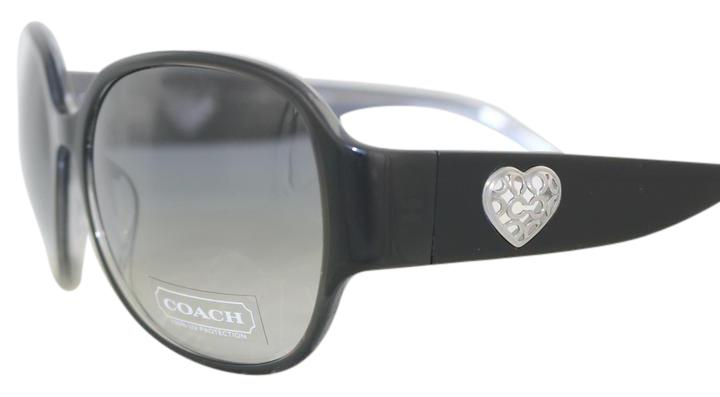 9a54675801 top quality coach hc 7018bm danielle 9053 83 gold black polarized  sunglasses eye heart shades 4059b f6b37  promo code for coach black metal  heart new with ...