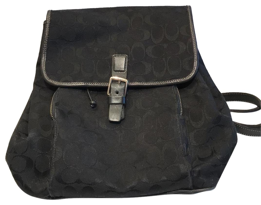 fce379572 ... hot coupon code for coach signature black and white fabric backpack  f88b4 10c6e promo code for