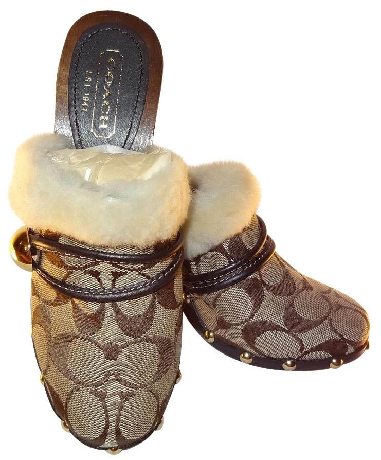 Coach Faux Fur Mules