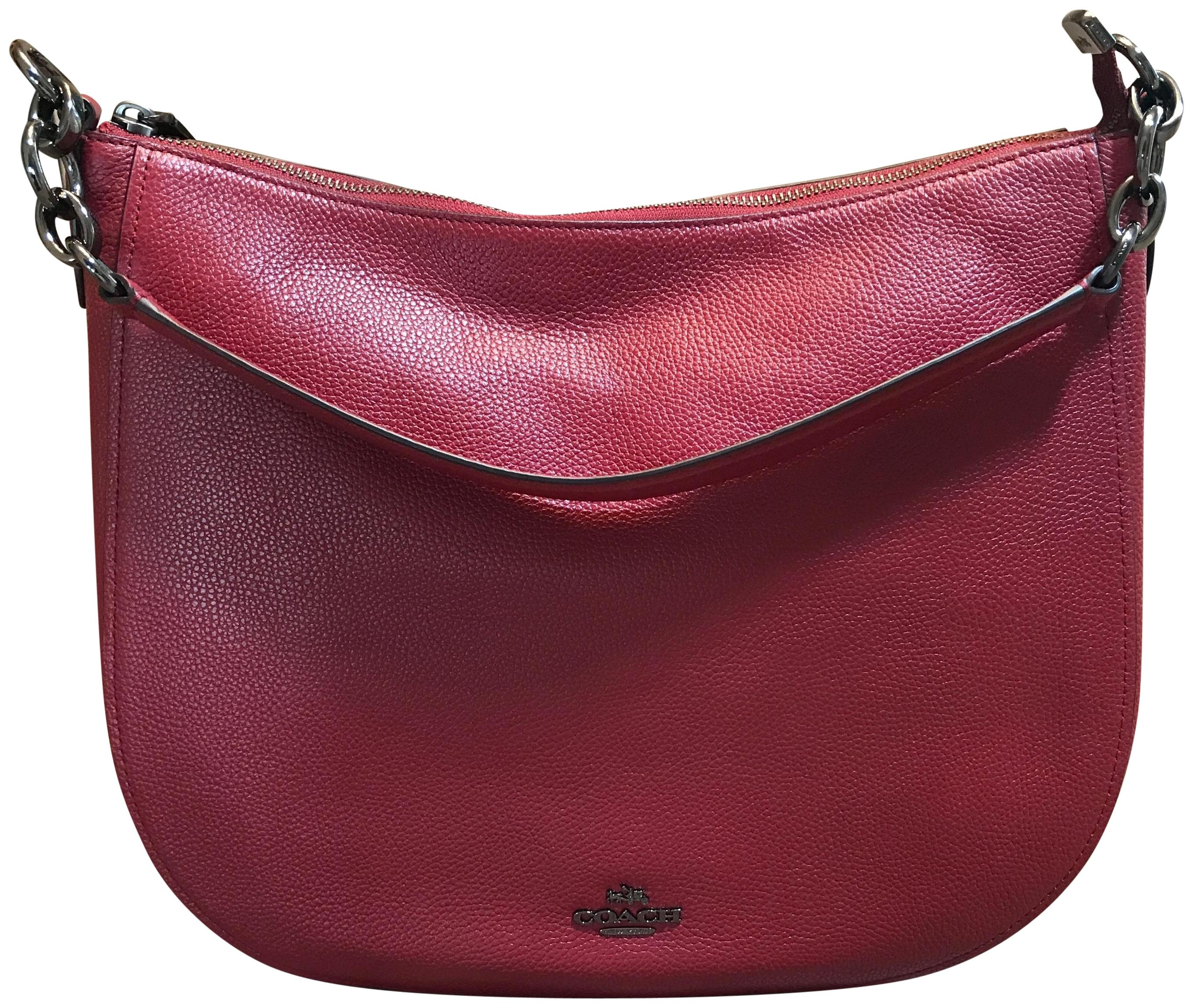 9cc711f0cedb ... wholesale coach chelsea pebble 32 dark cherry leather hobo bag tradesy  d89ca 2662a