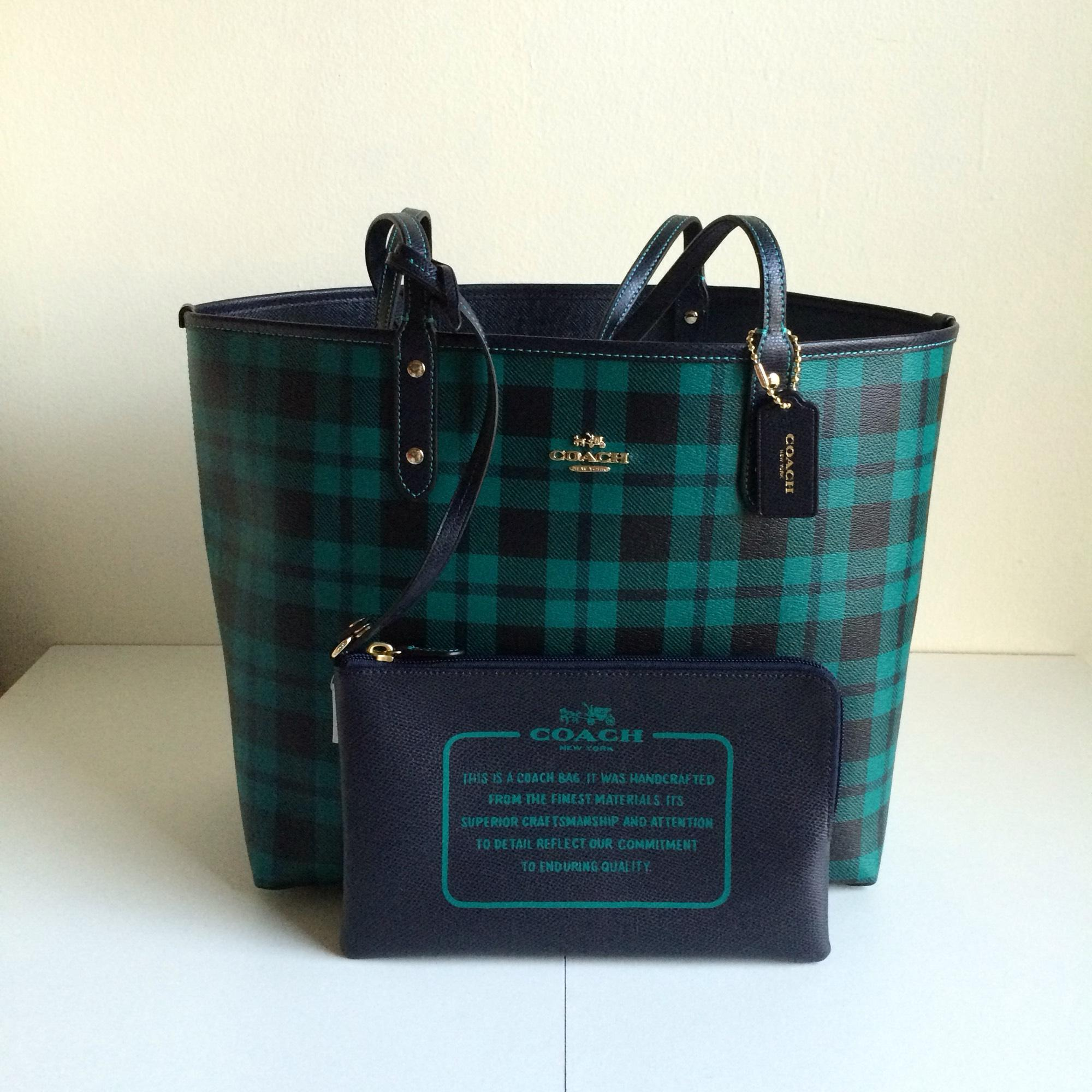 ... promo code for coach reversible coated canvas tote in green navy.  1234567 1a2e3 1c6b1 cafe391dbd3b5