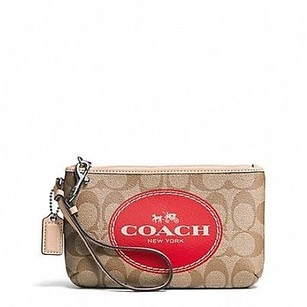 Coach Carriage Signature Brown Clutch