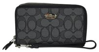 Coach Coach 12CM Signature Saffiano Leather East West Universal Wristlet