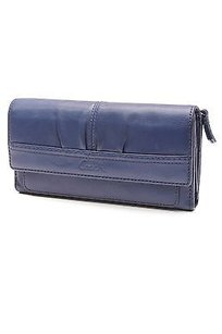 Coach Coach Blue Leather Soho Pleated Envelope Wallet