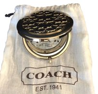 Coach Coach Key Chain 2 way mirrors Gold Color