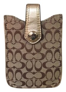 Coach Coach Leather Jacquard Iphone Case
