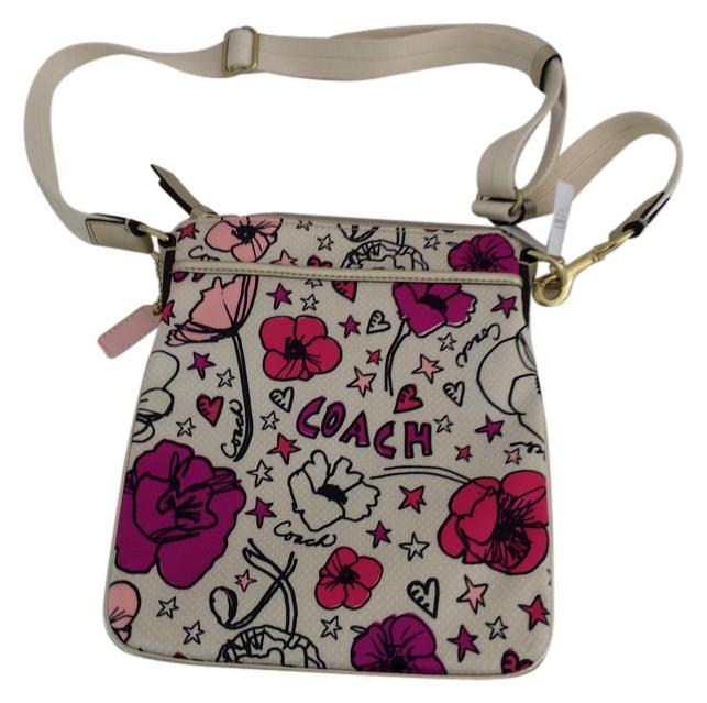 Coach Kyra Floral Pinks New Beige Cross Body Bag On Tradesy