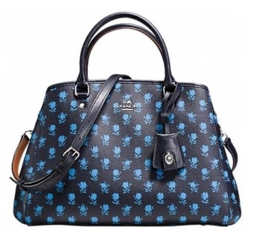 Coach Nwt Small Margot Carryall In Badlands Floral Canvas F38215 Blue Cross Body Bag On Sale 54 ...