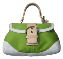 Coach Louis Vuitton Dooney Bourke Gucci Channel Rare Tote in Green
