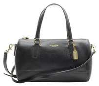 Coach Festival Leather Satchel in Black