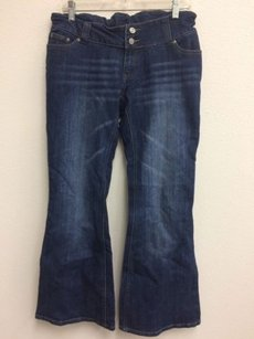 Coach Patch Womens Dark Flare Leg Jeans