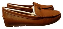 Coach Flat Loafer Fog Leather Brown Flats