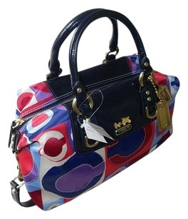 Coach Gucci Hermes Louis Vuitton Satchel in Blue, Red, Purple,White, Multicolored