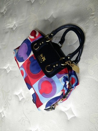 Coach Gucci Hermes Louis Vuitton Dooney Bourke Satchel in Blue, Red, Purple,White, Multicolored