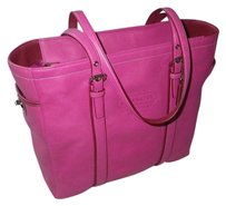 Coach Hermes Louis Vuitton Gucci Tote in Fuschia Pink