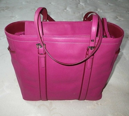 Coach Hermes Louis Vuitton Gucci Channel Rare Tote in Fuschia Pink