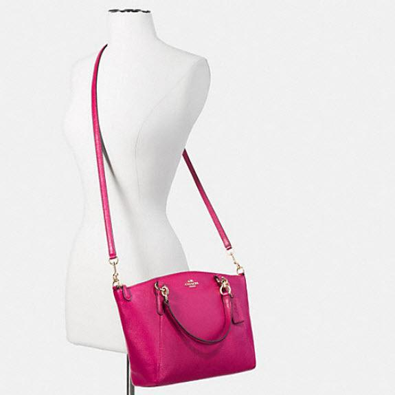 561f7a8bf74a ... order coach kelsey pebbled leather crossbody satchel in pink. 1234  b1975 3f2e8