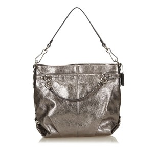 Coach Leather Silver 14azeg311 Shoulder Bag