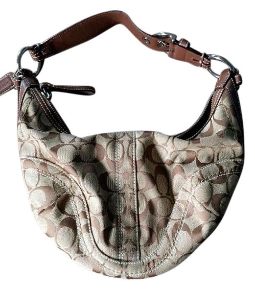 Coach Hamptons Signature Small Round Hobo 11371 Shoulder Bag on ...