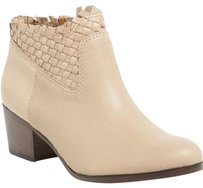 Coach Leather Woven Side Zip Geniune Chunky Tan Boots