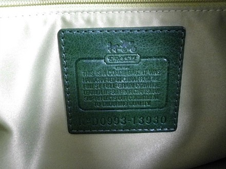Coach Louis Vuitton Dooney Bourke Gucci Channel Rare Vintage Tote in Greens