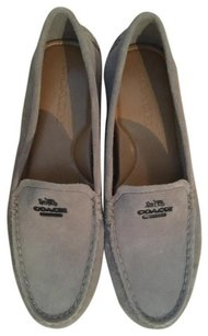 Coach Loafer Fog Suede Gray Flats