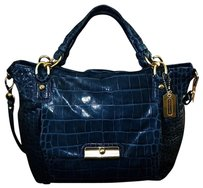 Coach Louis Vuitton Dooney Bourke Satchel in Denim/Navy Blue