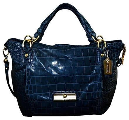 Coach Louis Vuitton Dooney Bourke Gucci Channel Rare Vintage Satchel in Denim/Navy Blue