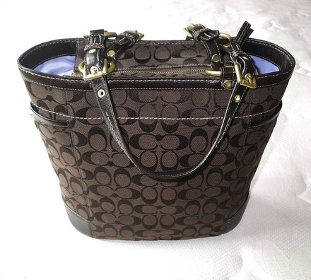 Coach Louis Vuitton Dooney Bourke Gucci Channel Rare Vintage Tote in Browns