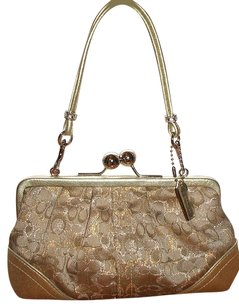Coach Louis Vuitton Dooney Bourke Tote in Gold/Silver