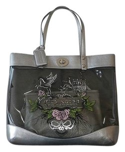 Coach Louis Vuitton Dooney Gucci Channel Rare Tote in Gray, Metallics