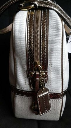 Coach Louis Vuitton Dooney Bourked Vintage Tote in Ivory, Gold