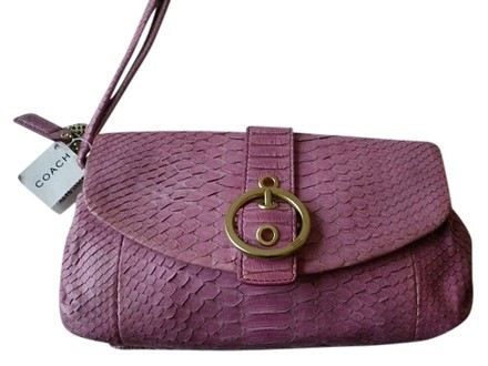 Preload https://item4.tradesy.com/images/coach-ltd-ed-ali-genuine-purse-pink-python-skin-leather-clutch-519538-0-0.jpg?width=440&height=440