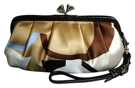Preload https://item4.tradesy.com/images/coach-ltd-scarf-print-brown-python-kisslock-crystal-bling-evening-purse-multi-color-satin-leather-cl-3011923-0-0.jpg?width=440&height=440