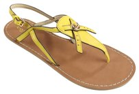 Coach Matte Calf Leather Yellow Sandals