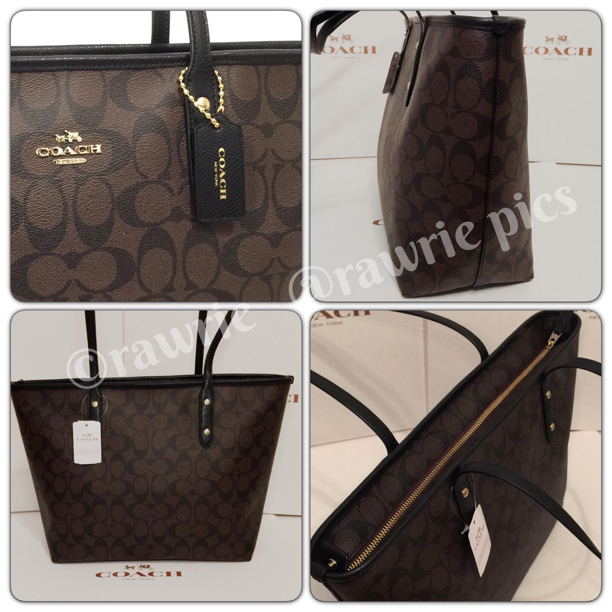 44047faf244a ... discount code for coach monogram zip top classic tote in brown . d9d4f  1d95c
