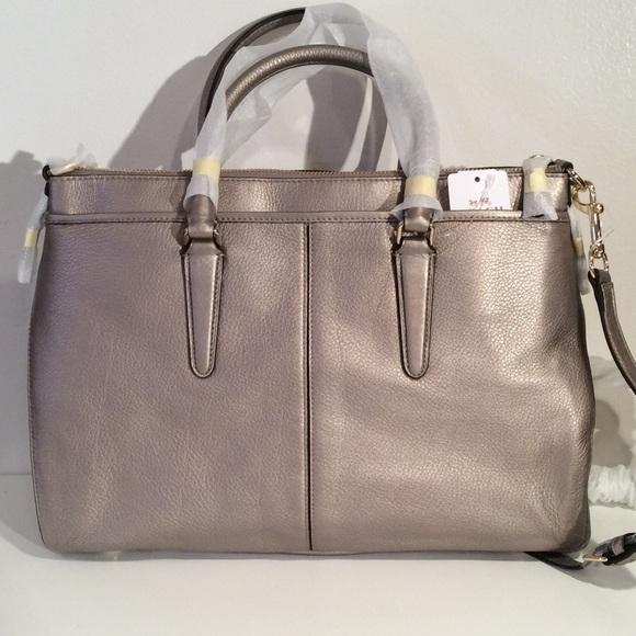 45a9181833 ... coupon for coach morgan light gold metallic leather satchel tradesy  d8a1b 85f93