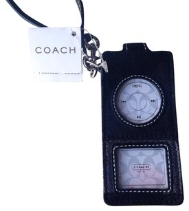 Coach NWT AUTHENTIC COACH BLACK SHIMMER NANO IPODS CASE