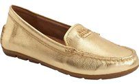 Coach Opal Flat Loafer Logo Gold Flats