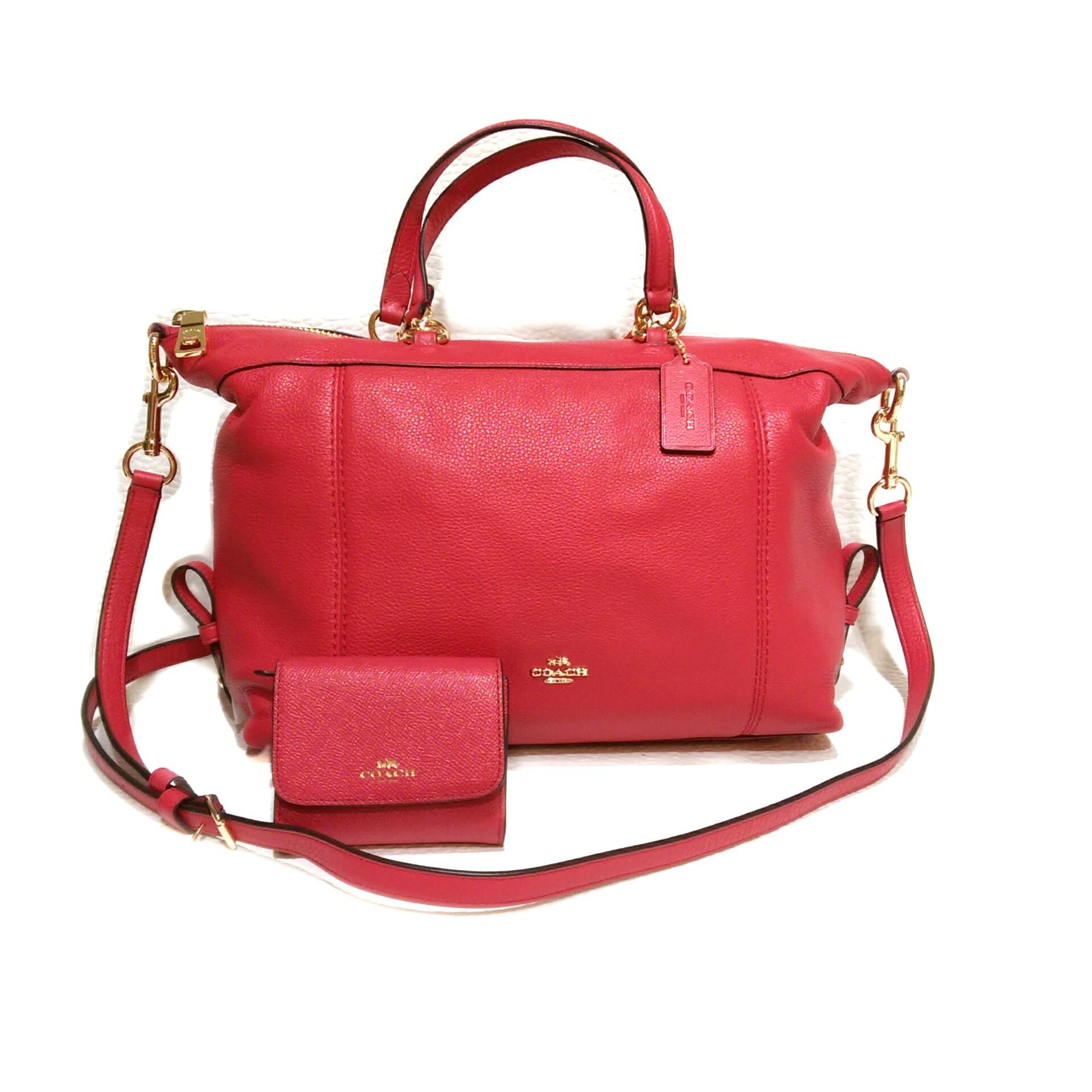 Coach Lenox & Matching Accordion Wallet Bright Pink Satchel on ...