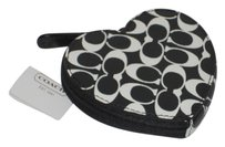 Coach Pet Smoke Free Black and White Clutch