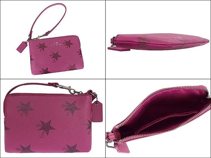 zipped wristlet - Pink & Purple Coach Popular For Sale Cost Online For Sale Cheap Real fnEIm5YL05