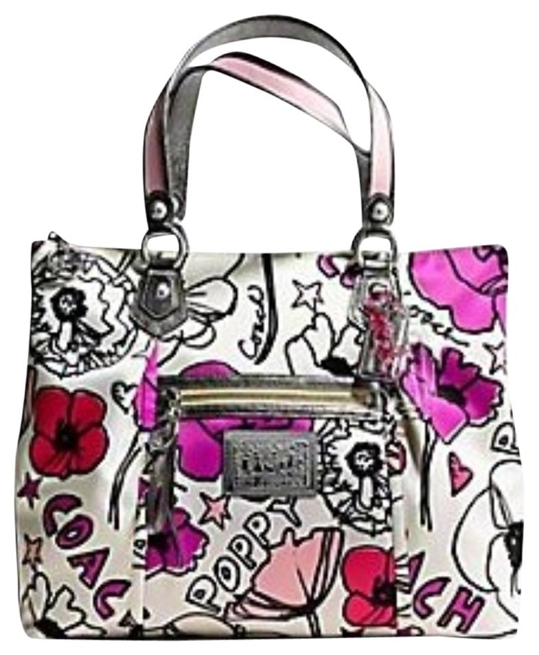 ... 50% off coach caoch kate spade shoulder bag fb47d a58ce purchase coach  poppy 16492 petal applique rocker convertible glam tote ... b3b76ad4574ff