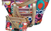 Coach Poppy Rare Sig Tote in Multicolor