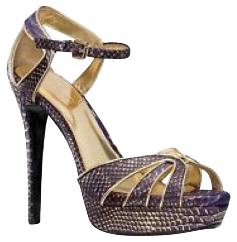 Gold And Purple Heels