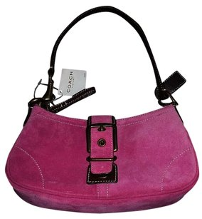 Coach Punch Pink Suede Buckle Demi Louis Vuitton Hobo Bag