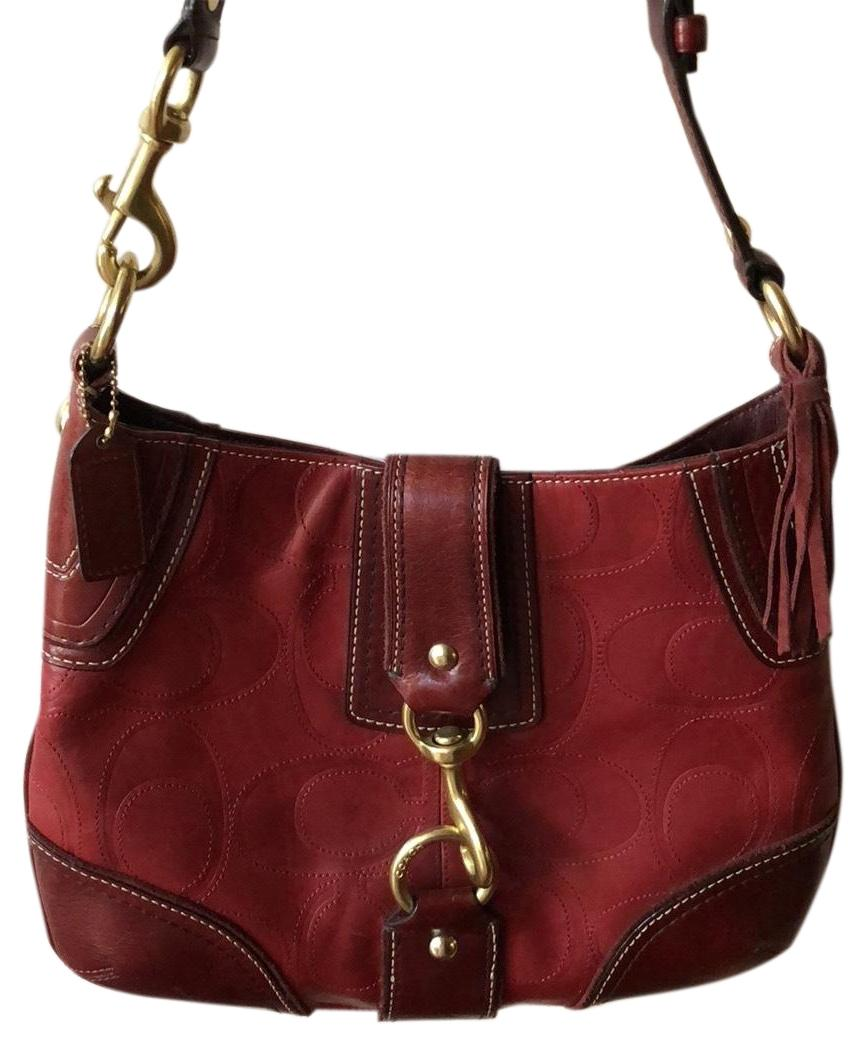 bd91389cbc32 ... cheap red coach hobo bags up to 90 off at tradesy d0859 89920