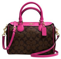 Coach Satchel in Brown & Pink